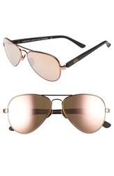 Westward Leaning Women's 'Concorde' 58Mm Aviator Sunglasses Black Matte Rose Gold Black Matte Rose Gold
