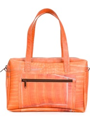 Luisa Cevese Riedizioni Printed Structured Tote Yellow And Orange