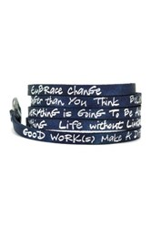 Good Work S Make A Difference Wrap Around Radiance Byc Leather Bracelet Blue