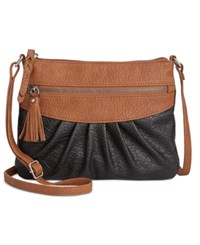 Styleandco. Style Co. Magggi Pleated Crossbody Only At Macy's Black
