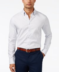 Inc International Concepts Men's Double Collar Chambray Shirt Only At Macy's White