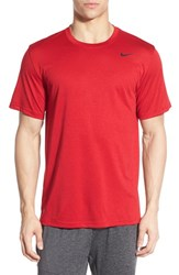 Men's Nike 'Legend 2.0' Dri Fit Training T Shirt Gym Red Black Black