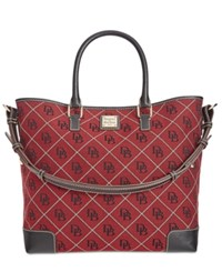 Dooney And Bourke Signature Quilted Chelsea Shopper Cranberry