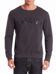 Sol Angeles Varcity Cotton Pullover Black