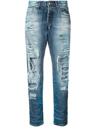 Prps Distressed Straight Jeans Women Cotton 28 Blue