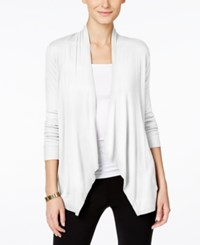 Inc International Concepts Long Sleeve Open Front Cardigan Only At Macy's White