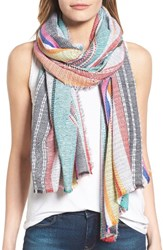 Collection Xiix Women's Cabana Stripe Scarf Multi