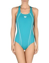 Arena Swimwear Performance Wear Women Turquoise