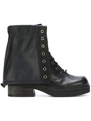 See By Chloe Combat Boots Women Leather Rubber 36 Black