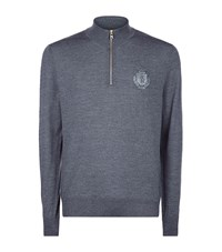 Billionaire Half Zip Sweater Male Grey