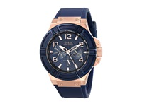 Guess U0247g3 Rigor Standout Sport Casual Watch Blue Rose Gold Chronograph Watches