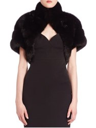 The Fur Salon Sable Shrug Black