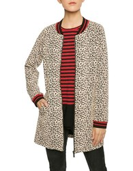 Sanctuary Leopard Print City Coat Creme