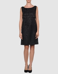 Rose' A Pois Short Dresses Black