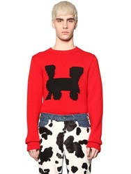 Au Jour Le Jour Train Intarsia Wool Sweater