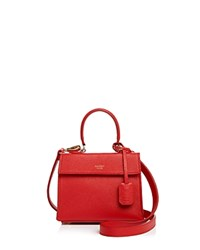 Mateo The Elizabeth Mini Leather Satchel Rouge Red Gold
