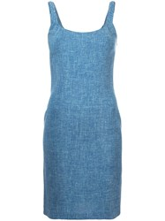Christian Dior Vintage Braided Shift Dress Blue