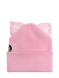 Silver Spoon Attire Bad Kitty Beanie Hat With Lace Ears