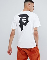 Primitive Skateboarding T Shirt With Back Logo In White