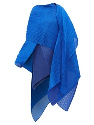Issey Miyake Pleats Please Madame T Pleated Scarf Blue