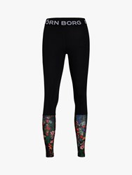 Bjorn Borg Connie Floral Training Tights Black