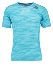 Adidas Performance Freelift Print Tshirt Energy Blue Clear Aqua