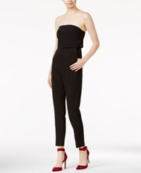 Kensie Strapless Straight Leg Jumpsuit Black