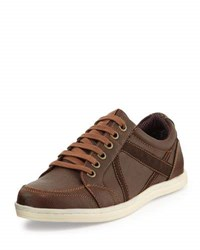 Ben Sherman Knox Lace Up Contrast Sneaker Brown