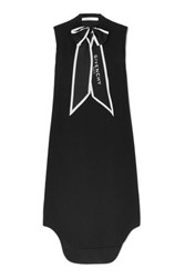 Givenchy Pussy Bow Crepe Tunic Black