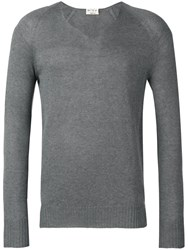 Ma'ry'ya V Neck Jumper Grey