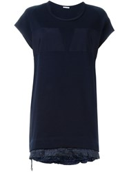 Moncler Short Sweater Dress Blue