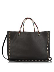 Valentino Rockstud Tribal Double Reversible Tote