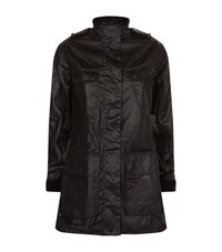 Barbour International Charger Wax Jacket Female Black