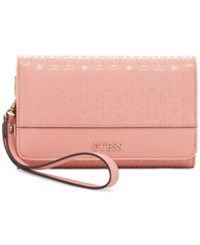 Guess Janette Phone Organizer Wallet Rose