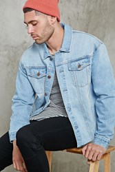 Forever 21 Raw Hem Denim Jacket Denim Washed