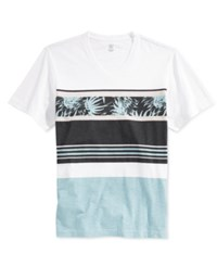 Inc International Concepts Men's Colorblocked Jam Graphic T Shirt Only At Macy's White Pure