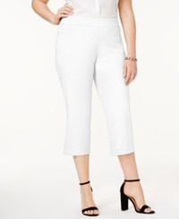 Jm Collection Plus Size Pull On Capri Pants Only At Macy's Bright White