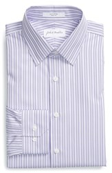 Men's John W. Nordstrom Trim Fit Stripe Dress Shirt Lavender Spray