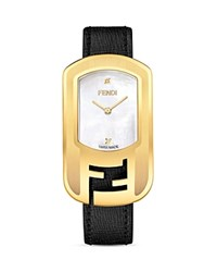 Fendi Chameleon Watch 29Mm Yellow Gold White Black