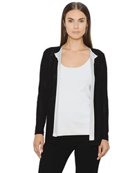 Akris Linen And Silk Blend Knit Cardigan
