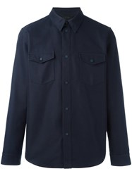 Calvin Klein Collection Chest Pocket Shirt Jacket Blue
