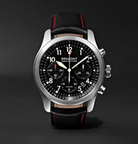 Bremont Alt1 P Bk Automatic Chronograph 43Mm Stainless Steel And Leather Watch Black