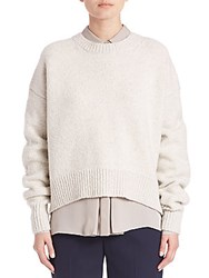 Vince Drop Shoulder Knitted Sweater Winter White
