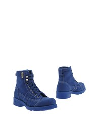 O.X.S. Ankle Boots Bright Blue