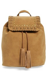 Elle And Jae Gypset Sevilla Faux Suede Backpack Brown Sand