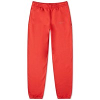 Off White Unfinished 3M Chevron Sweat Pant Red