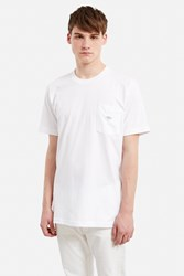 Body High Samo Lips Embroidered Pocket Tee White