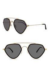 Smoke X Mirrors Women's Geo Ii 54Mm Sunglasses Matte Gold Matte Black Matte Gold Matte Black