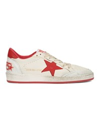 Golden Goose Ball Star Red Star White Trainers