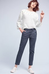 Anthropologie Relaxed Chino Pants Navy